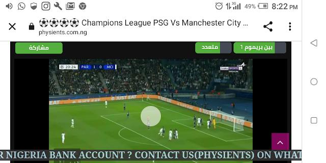 ⚽⚽⚽⚽ Champions League PSG Vs Manchester City Live HD ⚽⚽⚽⚽