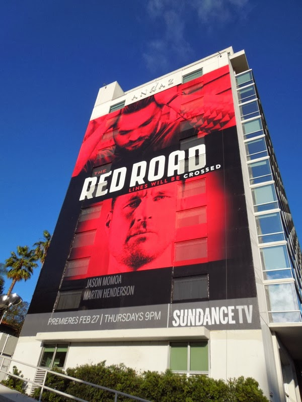 Giant Red Road series premiere billboard