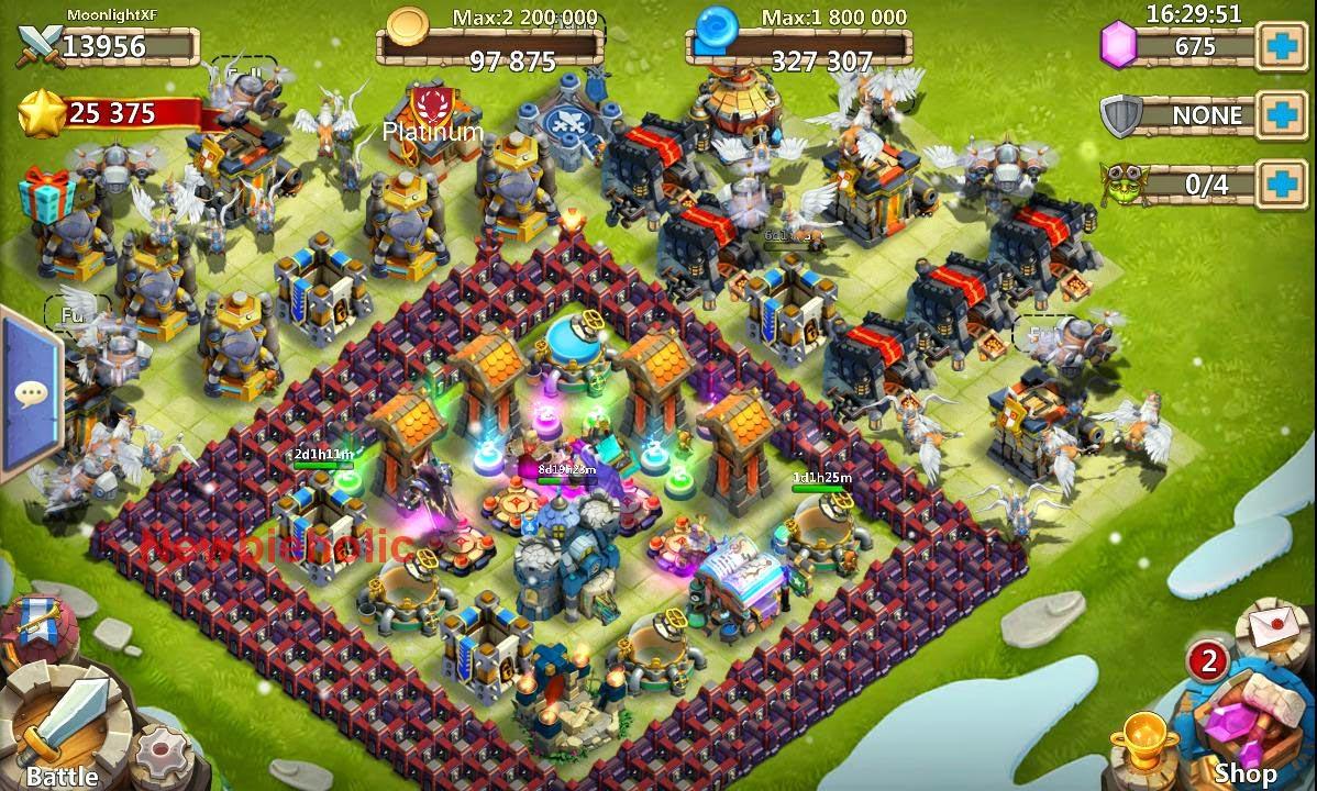 Update Base Konflik Kastil Castle Clash Terkuat Untuk HBM
