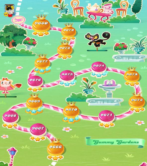 Candy Crush Saga level 9666-9680
