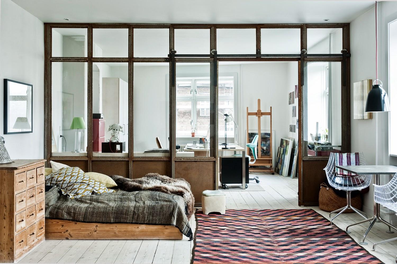 ATELIER RUE VERTE , le blog: Copenhague / Chambre avec verrière /
