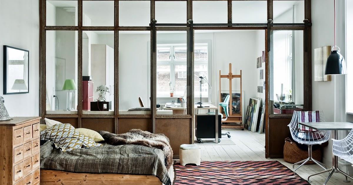 Atelier rue verte le blog copenhague chambre avec verri re - Chambre style atelier ...