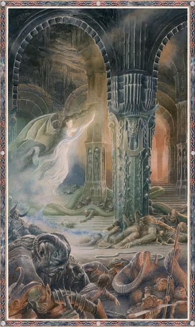 Εικονογράφηση του Alan Lee για την ιστορία του Μπέρεν και της Λούθιεν του Τόλκιν