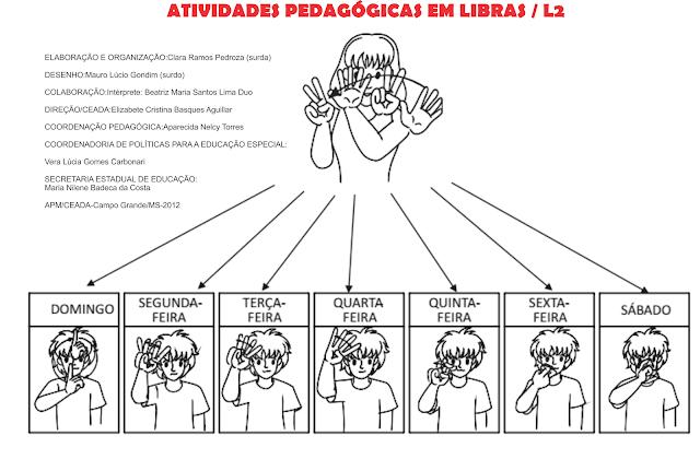 Atividades pedagógica Linguagem Brasileira de Sinais
