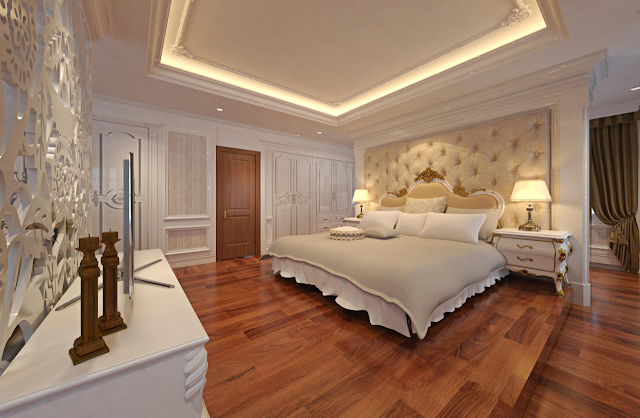 Bố trí ánh sáng trong phòng ngủ tân cổ điển