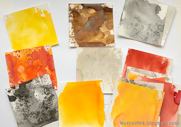 Layers of ink - Ink Blocks Layout Tutorial by Anna-Karin Evaldsson.