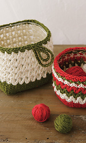 Free Patterns Crochet Baskets Bowls : Miss Julias Patterns: Free Patterns - 30 Baskets & Bowls ...