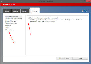 Mematikan Real Time Protection Windows Defender