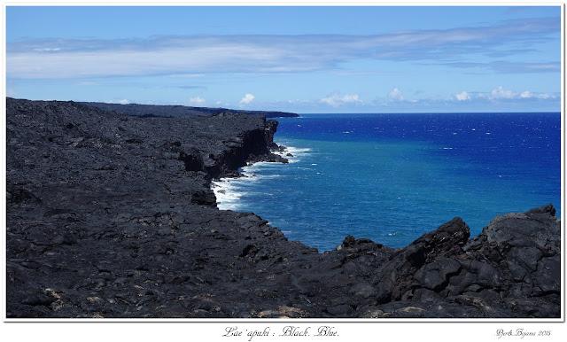 Lae Apuki: Black. Blue.