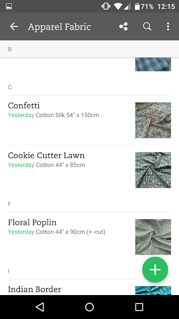 Evernote fabric stash organisation via SEWN sewing blog