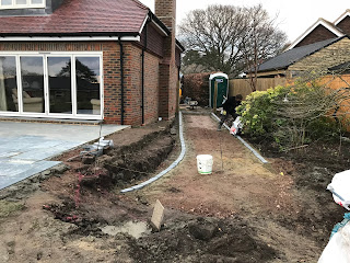 Installing the granite sett edging