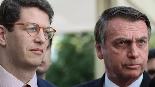 Bolsonaro parabeniza trabalho de Salles e critica investigações do 'outro Poder'