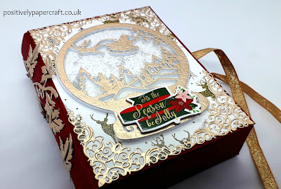Christmas book box, Faux book box