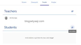 Mengundang siswa ke kelas google classroom
