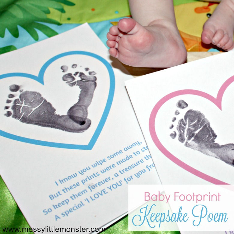 activities for babies - baby footprints poem
