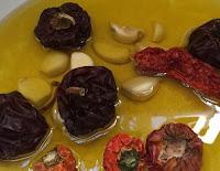 Ñoras y ajos para preparar un caldero de alicante santa pola