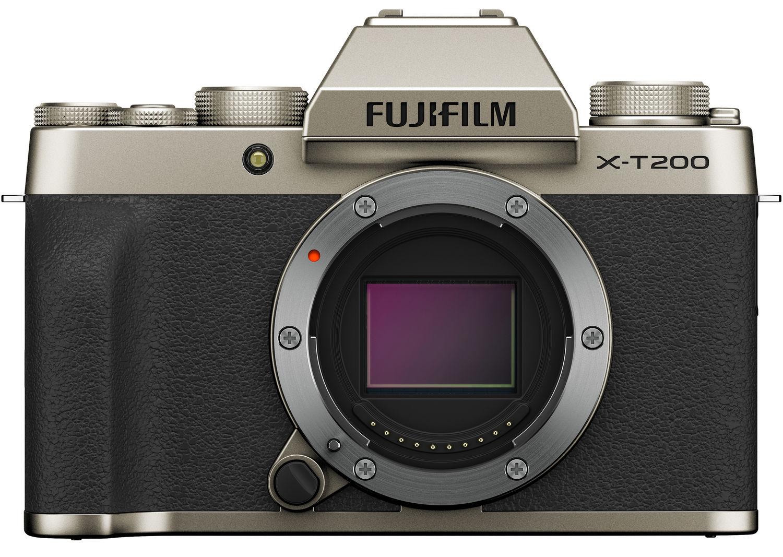 Fujifilm X-T200 золотистого цвета