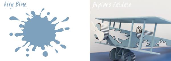 colore  Airy Blue e progetto biplano fai da te