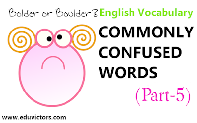 English Vocabulary - Commonly Confused Words  (Part-5) (#eduvictors)(#EnglishVocabulary )