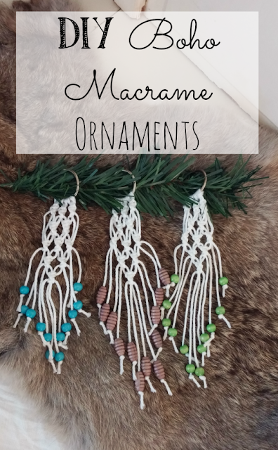 How to make macrame ornaments for your Christmas tree!