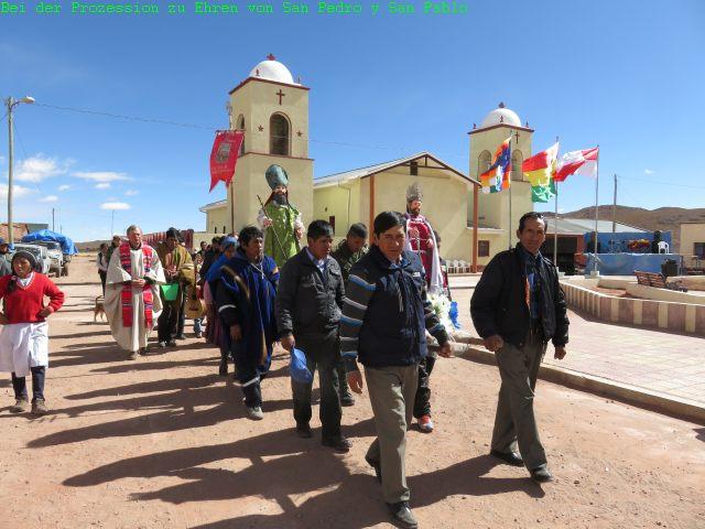 Prozession in San Pablo de Lipez