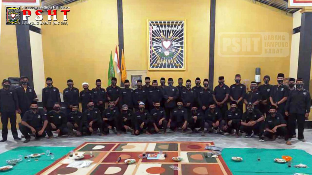 Rapat Pengurus dan Panitia Pengesahan Warga Baru PSHT Cabang Lampung Barat