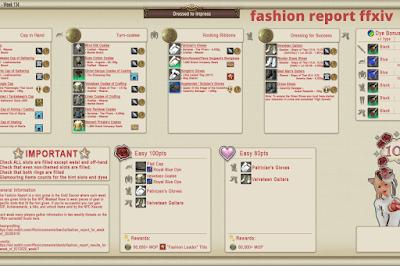 fashion report ffxiv