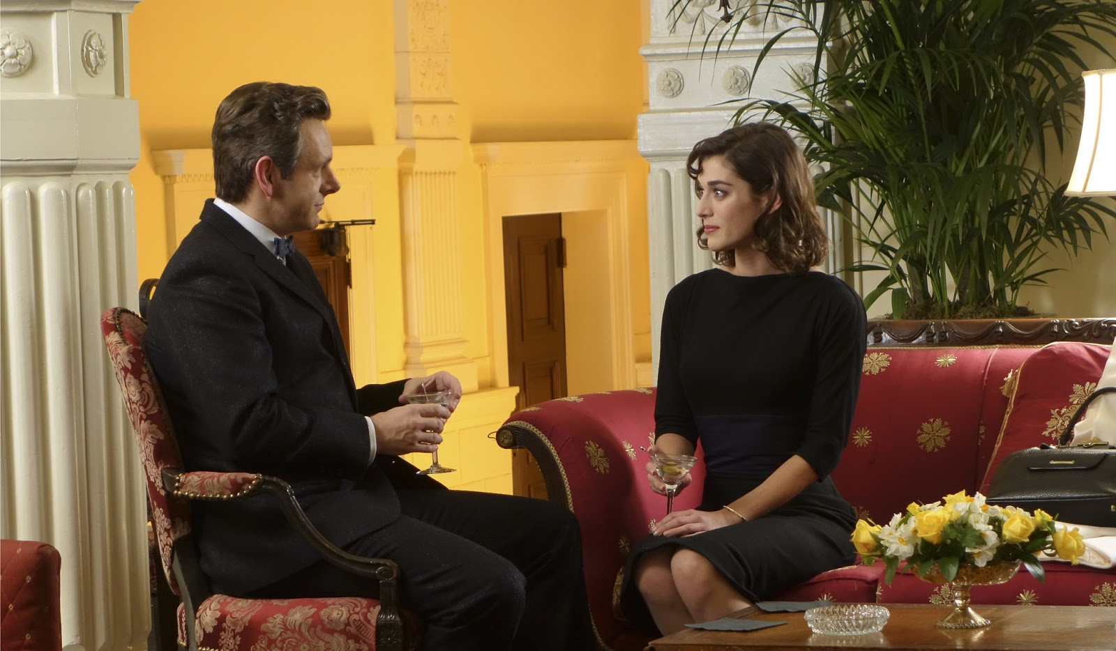 Michael Sheen y Lizzy Caplan en Masters of Sex