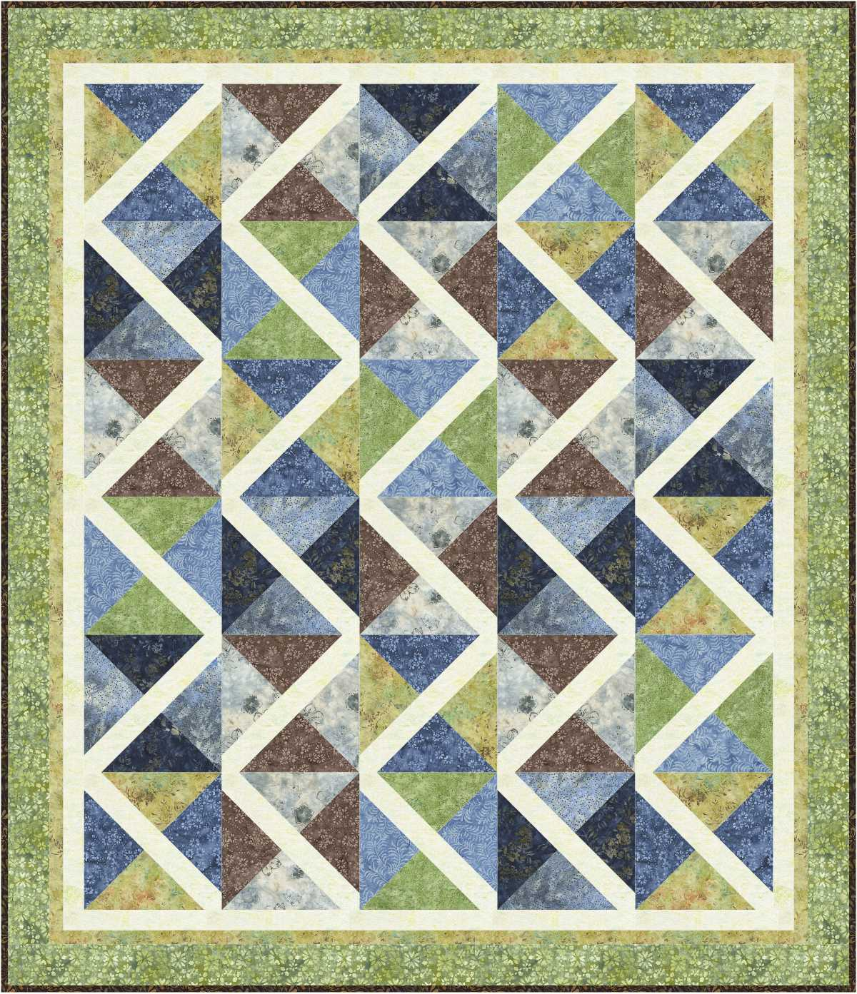 Pieced Brain: Serpentine - Free quilt pattern