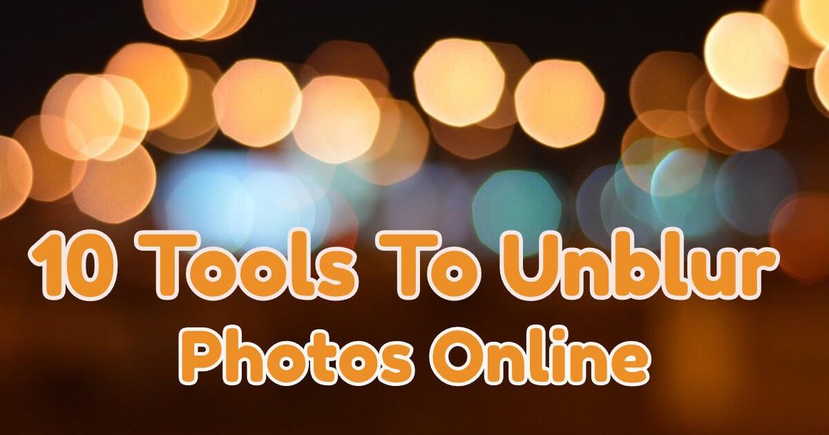 Unblur image online