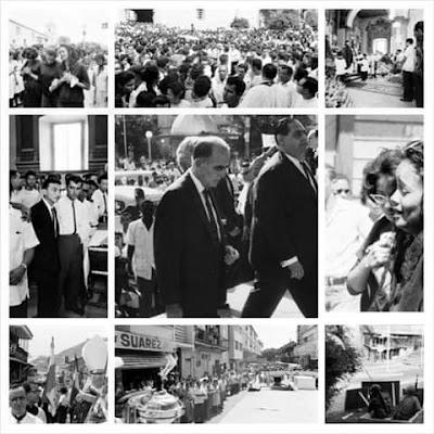 Colección de fotografías de los sucesos del 9 de enero de 1964