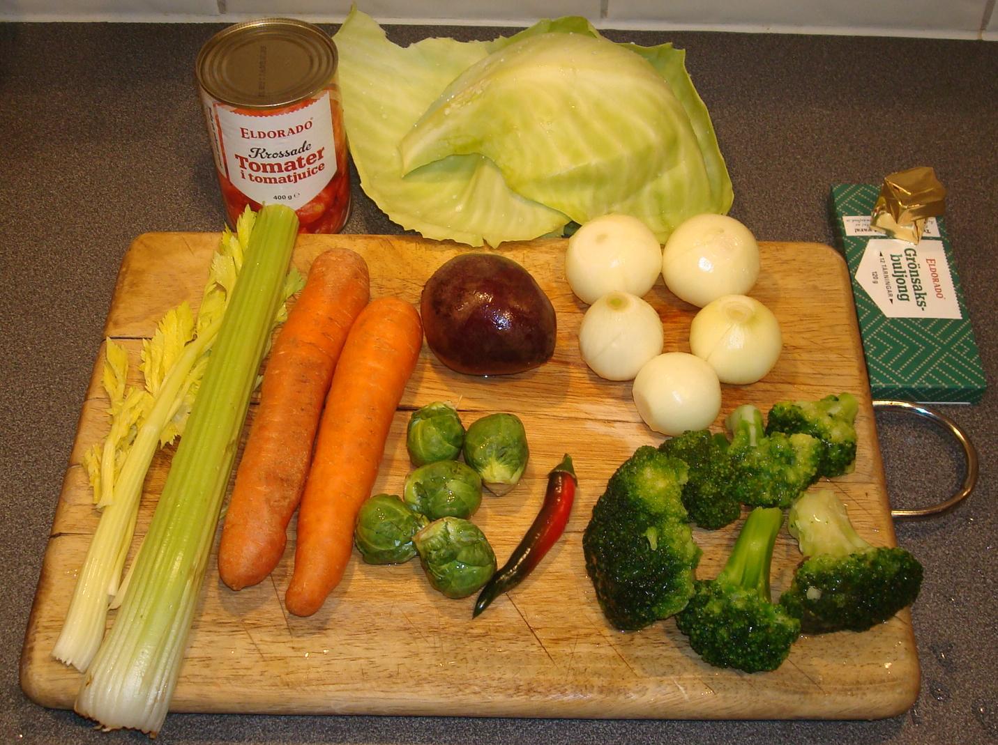 7ed4498f9286 Att jag inte rabblar upp mängden vikten på grönsakerna är för att det inte  är hugget i sten. Heller inte att det blir just de grönsakerna.