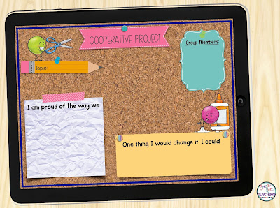 Page from a digital portfolio for student-led conferences