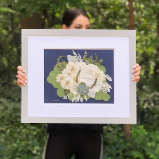 Wedding Ideas - framed flowers with female hands holding it - dbandrea - Wedding Ideas - framed wedding flowers - dbandrea - Wedding Soiree Blog by K'Mich - wedding planners in Philadelphia PA