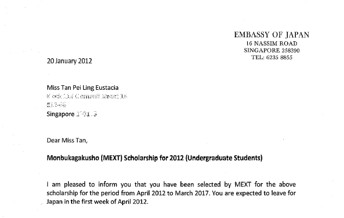With Love From Japan, Eustacia: I'm Going To Japan! (With The Monbukagakusho Undergraduate
