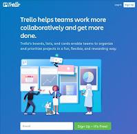 Tampilan web awal Trello