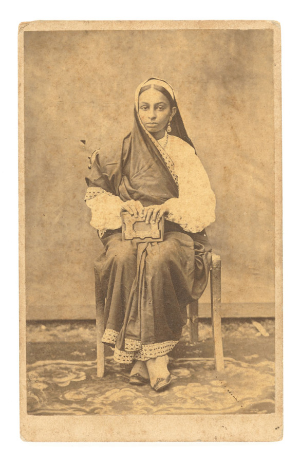 Studio Photograph of a Parsi Lady - Date Unknown