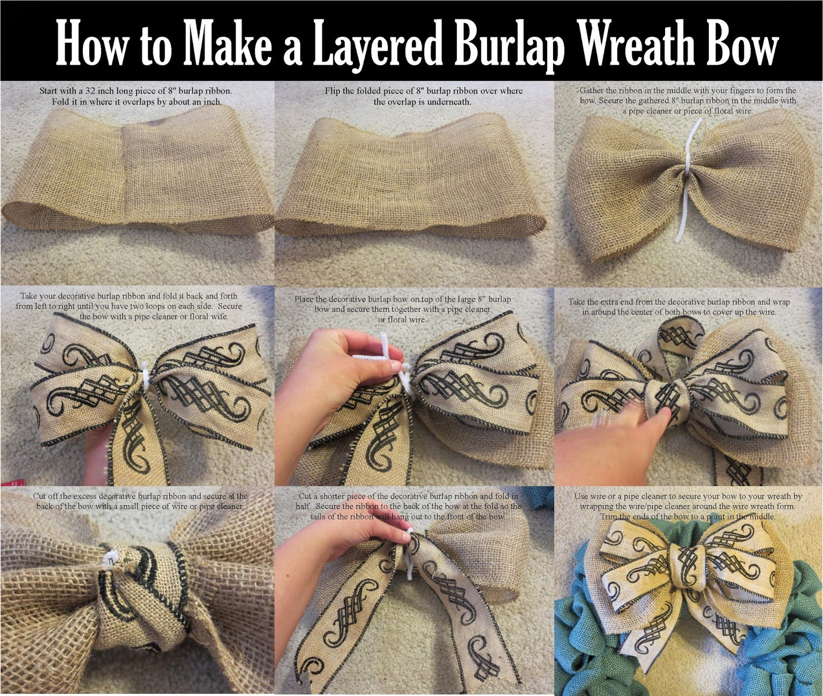 Finding Fairy Tales: How to Make a Burlap Wreath Bow