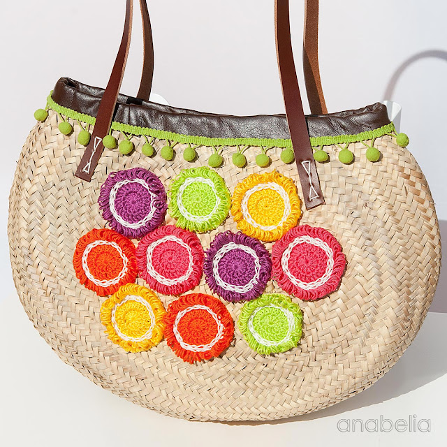 Tropical Fruits summer bag by Anabelia Craft Design