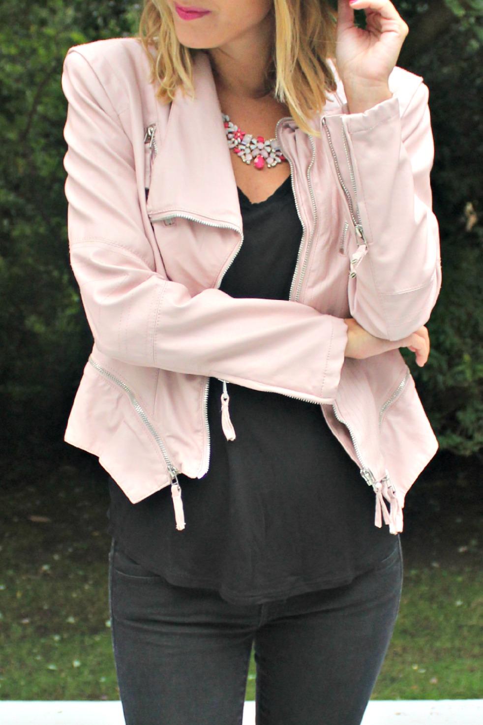 blanknyc pink leather jacket