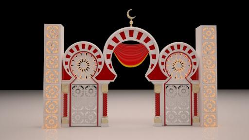 Dekorasi Ramadhan Masjid Merah
