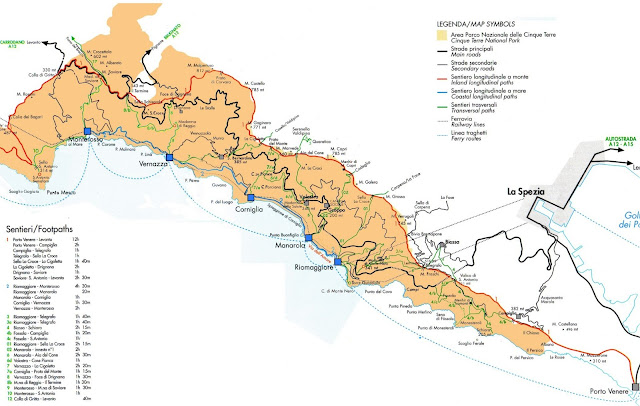Cinque Terre Trail Map