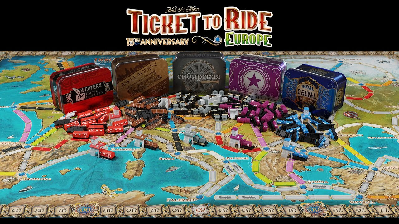 Ticket to Ride Europe: 15th Anniversary is available now!
