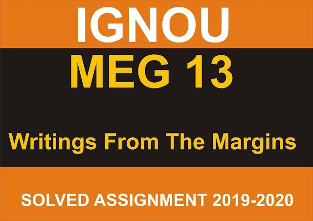 MEG 13 Solved Assignment 2020-21
