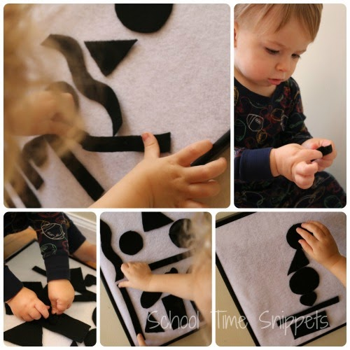 black and white collage for toddlers