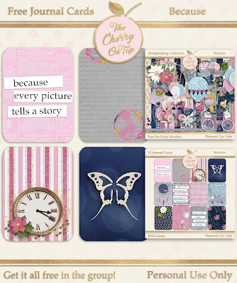 New Ethereal Digital Scrapbooking Kit and Free Project Life Cards