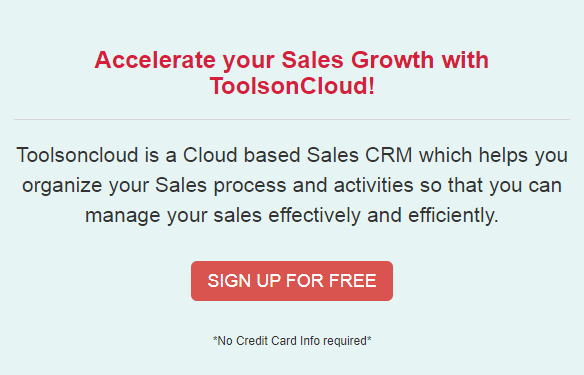 ToolsonCloud CRM - New feature updates for Mar 2021