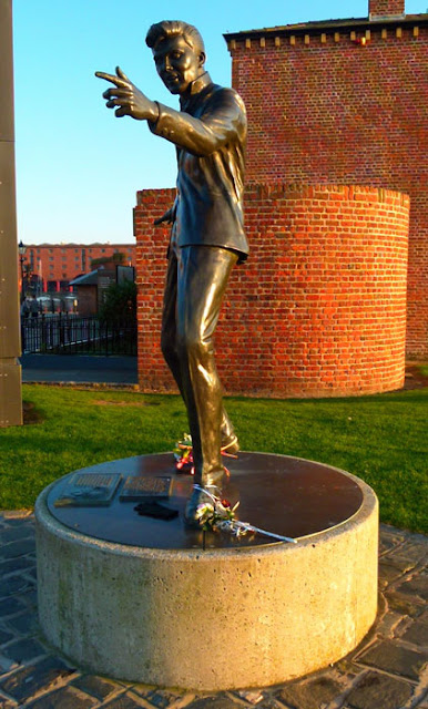 Billy Fury looks out over the Mersey from Liverpool's Albert Dock
