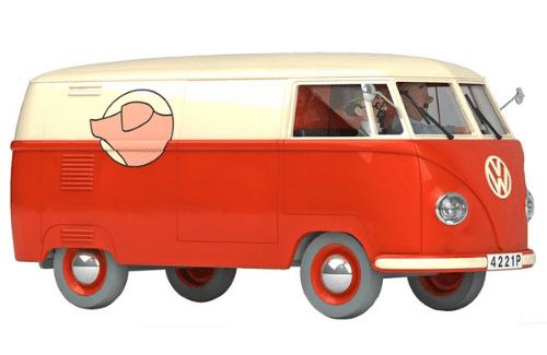 camionnette de la boucherie sanzot 1:24 l'affaire tournesol, les voitures de tintín 1/24e, Les voitures de Tintín 1/24 hachette, tintin collection voitures 1/24, tintin collection voitures 1/24 hachette, collection tintin voitures miniatures, tintin collection voitures hachette