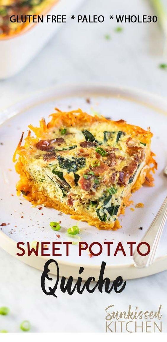 Sweet Potato Bacon Quiche